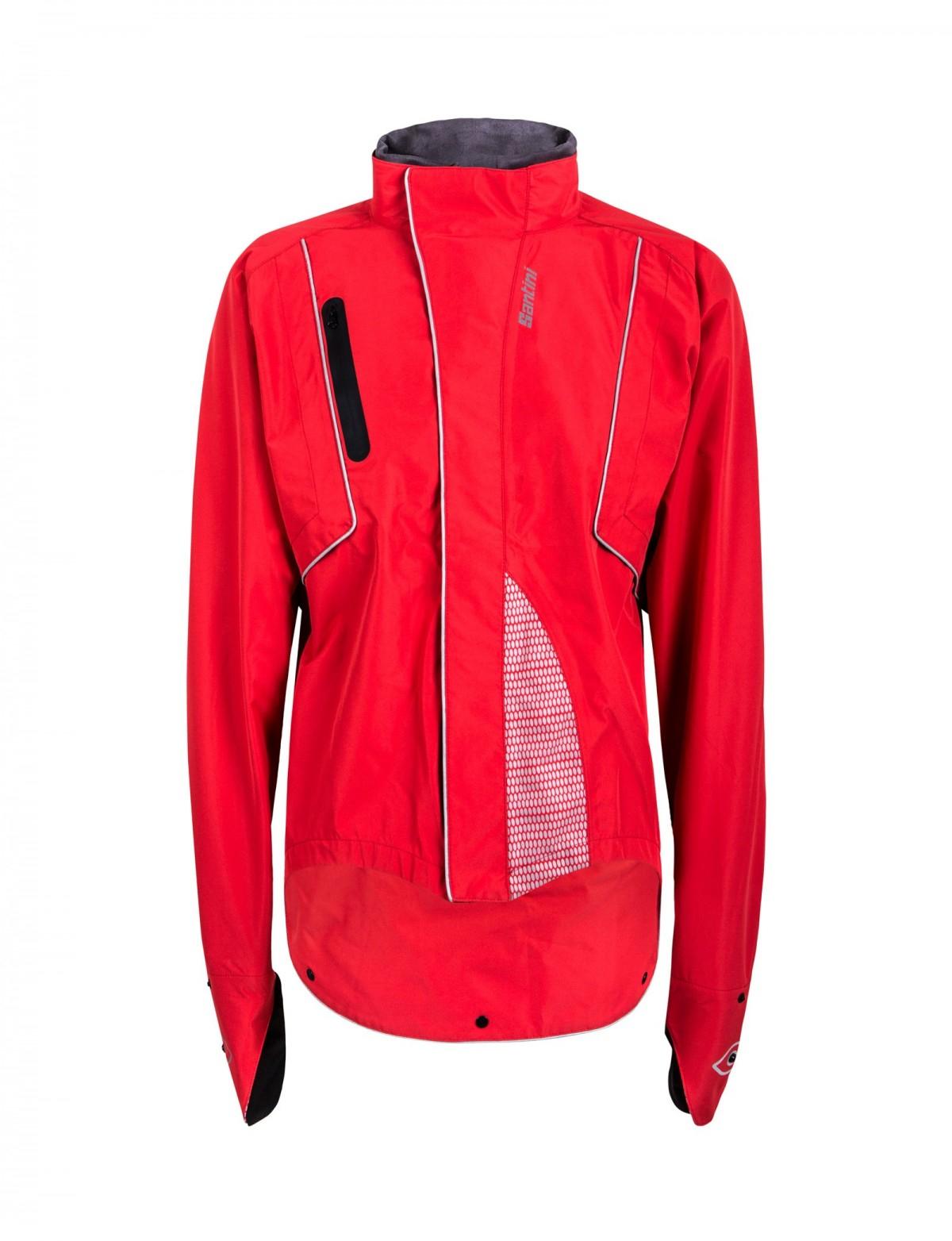Veste de cyclisme Santini Drun Rain - noir ou rouge (Imperméable,du S au 3XL)