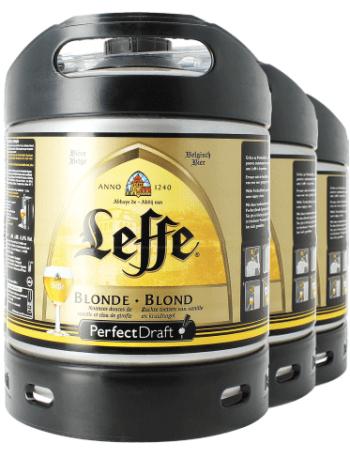 Sélection de fûts de bière PerfectDraft en promotion - Ex : lot de 3 fûts de Leffe Blonde (6 L) -  consignes incluses