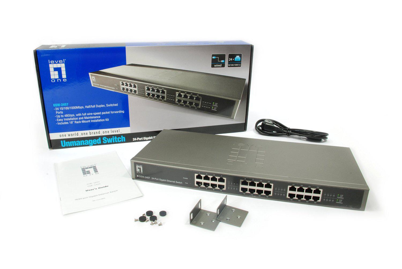 Switch Gibabit 24 Ports Level One GSW-2457