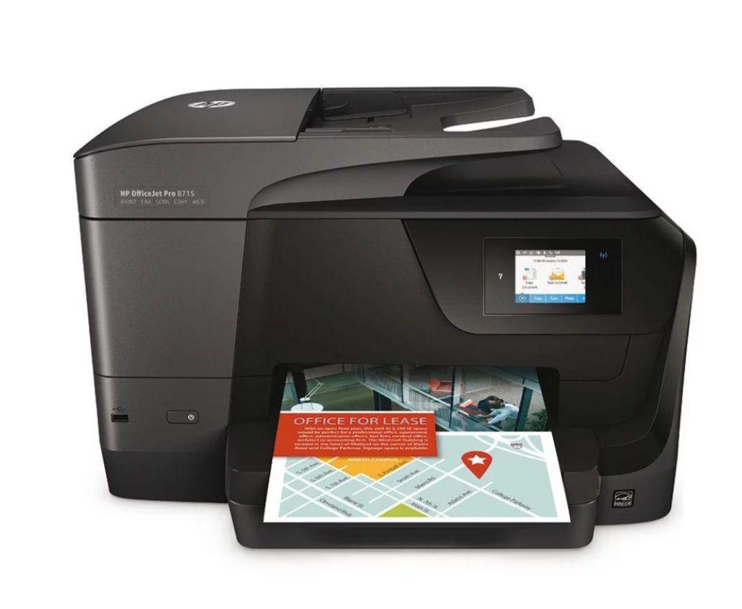Imprimante à jet d'encre multifonction HP Office Jet pro 8715 (via ODR 50€)