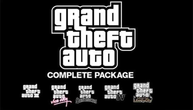 Grand Theft Auto Collection : GTA III + Vice City + San Andreas + GTA IV + Liberty City sur PC (Dématérialisé - Steam)