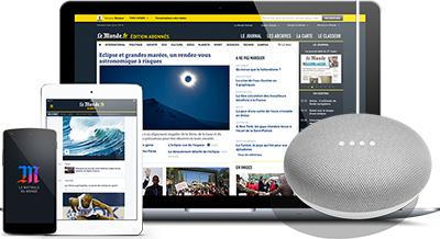 Abonnement 1 an Le Monde Formule Numérique + Google Home Mini gratuit
