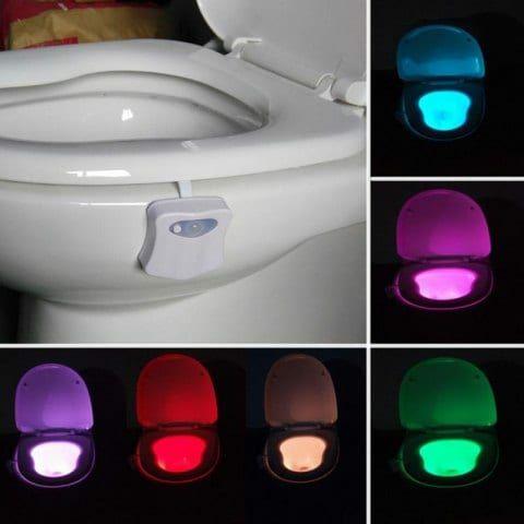 Lumière de toilette colorée LED de capteur de mouvement automatique