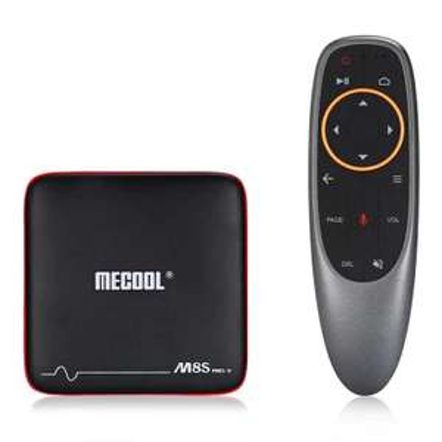 Box Android TV Mecool M8S Pro W 2.4G avec contrôle vocal (prise EU)