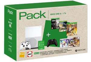 Pack Xbox One S 1To + Dragon Ball Fighter Z + AC Origins + R6 Siege + Destiny 2 + 1 manette supplémentaire + 3 mois Xbox Live + 1 mois Xbox Pass + Posters (et 30 € offerts aux adhérents)