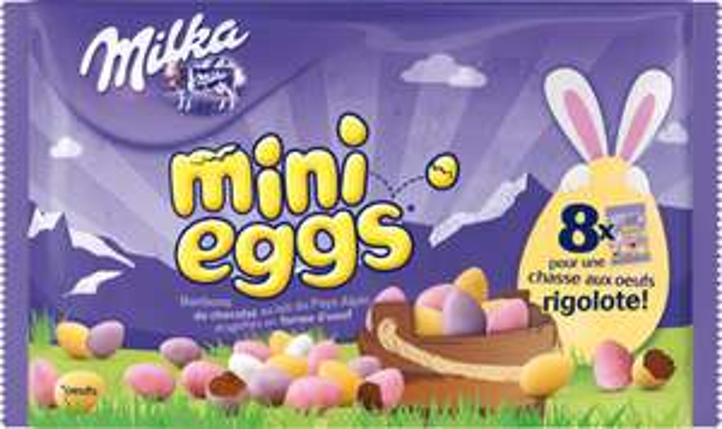 Sélection de promotions sur les chocolats de Pâques - Ex: Lot de 3 paquets Mini-eggs Milka 253g (avec 50% en bon d'achat)