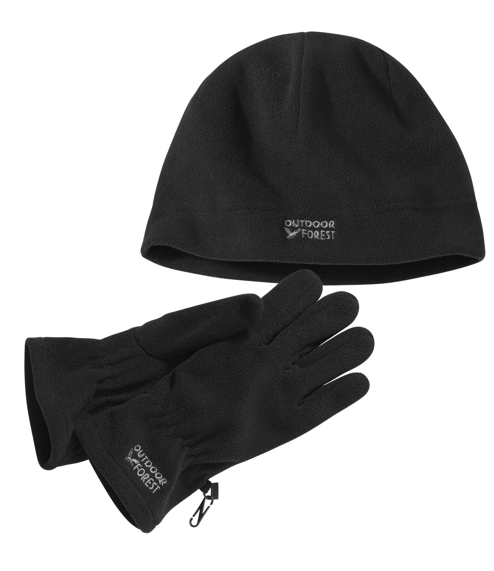 Bonnet + gants polaires Outdoor Forest (plusieurs tailles)