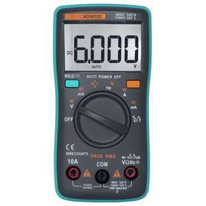 Multimètre / Thermomètre ZT102 à Affichage LCD - 6000 Points (True-RMS)