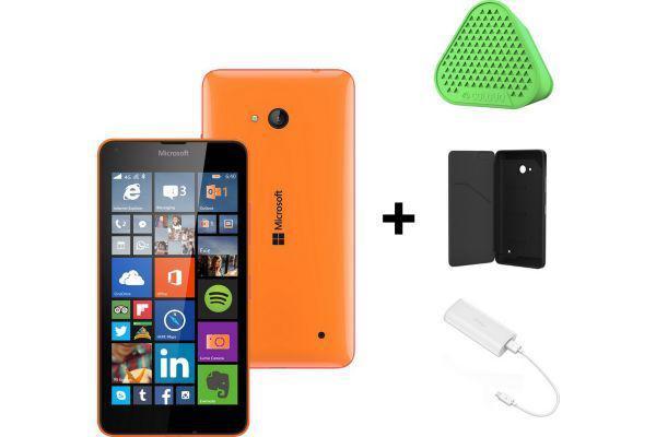 Smartphone Microsoft Lumia 640 (noir / blanc / orange) +  Coque + Enceinte: Coloud MD-1C + Powerbank + 1 an d'office 365