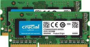 Kit Mémoire Crucial 8Go Kit (4Gox2) DDR3L 1600 MT/s (PC3L-12800) SODIMM 204-Pin
