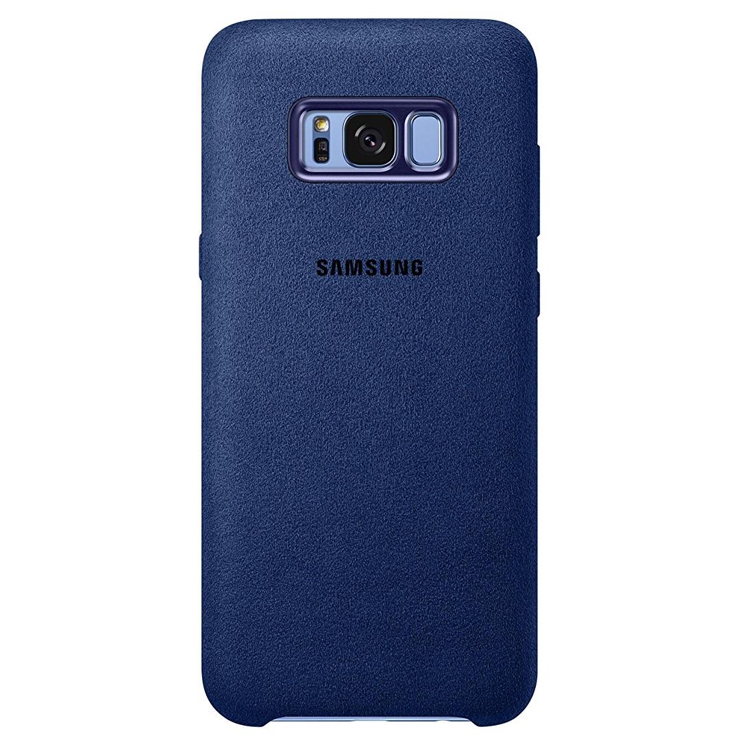 Coque Samsung en Alcantara bleu pour Samsung Galaxy S8+