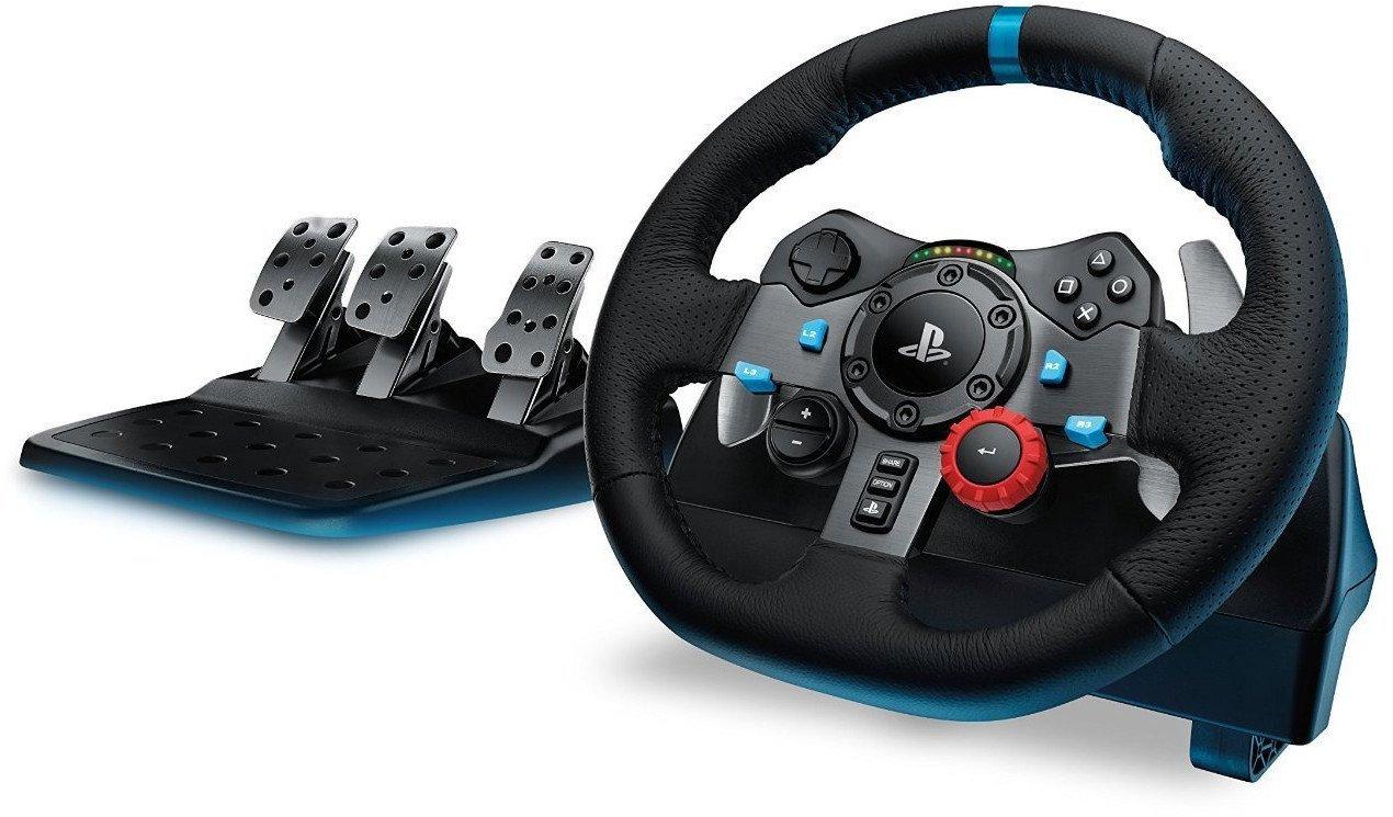 Volant de Course Logitech G29 en Cuir et Métal compatible PC, PS3 et PS4 - Noir