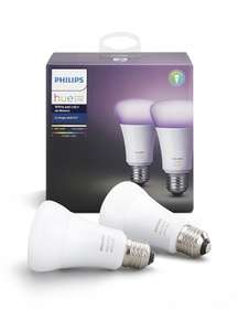 Pack de 2 ampoules connectées Philips Hue White & Color E27