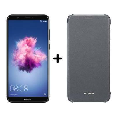 """Smartphone 5.65"""" Huawei P Smart DS Noir + Huawei Flip Figo Noir (via ODR de 30€)"""