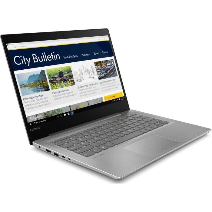 "PC portable 14""  Lenovo IdeaPad 320S -14IKB - HD, i5-7200U, 4Go de Ram, 128 Go SSD"