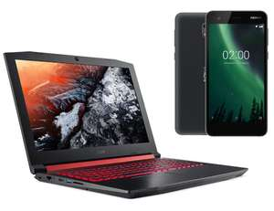 "PC Portable 15.6"" Acer Nitro 5 AN515-51-53HT (Full HD, i5-7300HQ, HDD 1 To, RAM 6 Go, GTX 1050 2 Go, Sans OS) + Smartphone 5"" Nokia 2 Offert"