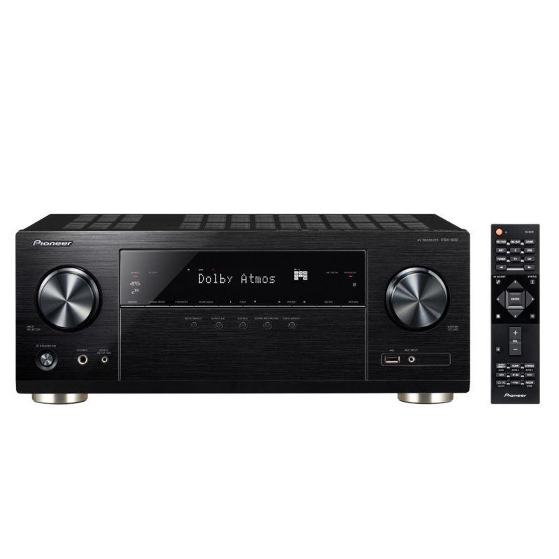 Ampli Home Cinéma 7.2 Pioneer VSX-932 - Dolby Atmos 5.2.2, HDMI 2.0a, DTSX, Noir