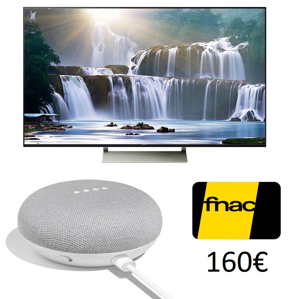 """[Adhérents] 15% sur une sélection de TV 65"""" + 10€ offerts tous les 100€ - Ex : TV Sony KD-65XE9005 (Full LED, 4K UHD, HDR, Android TV) + Google Home Mini (+ 160€ sur le compte fidélité)"""