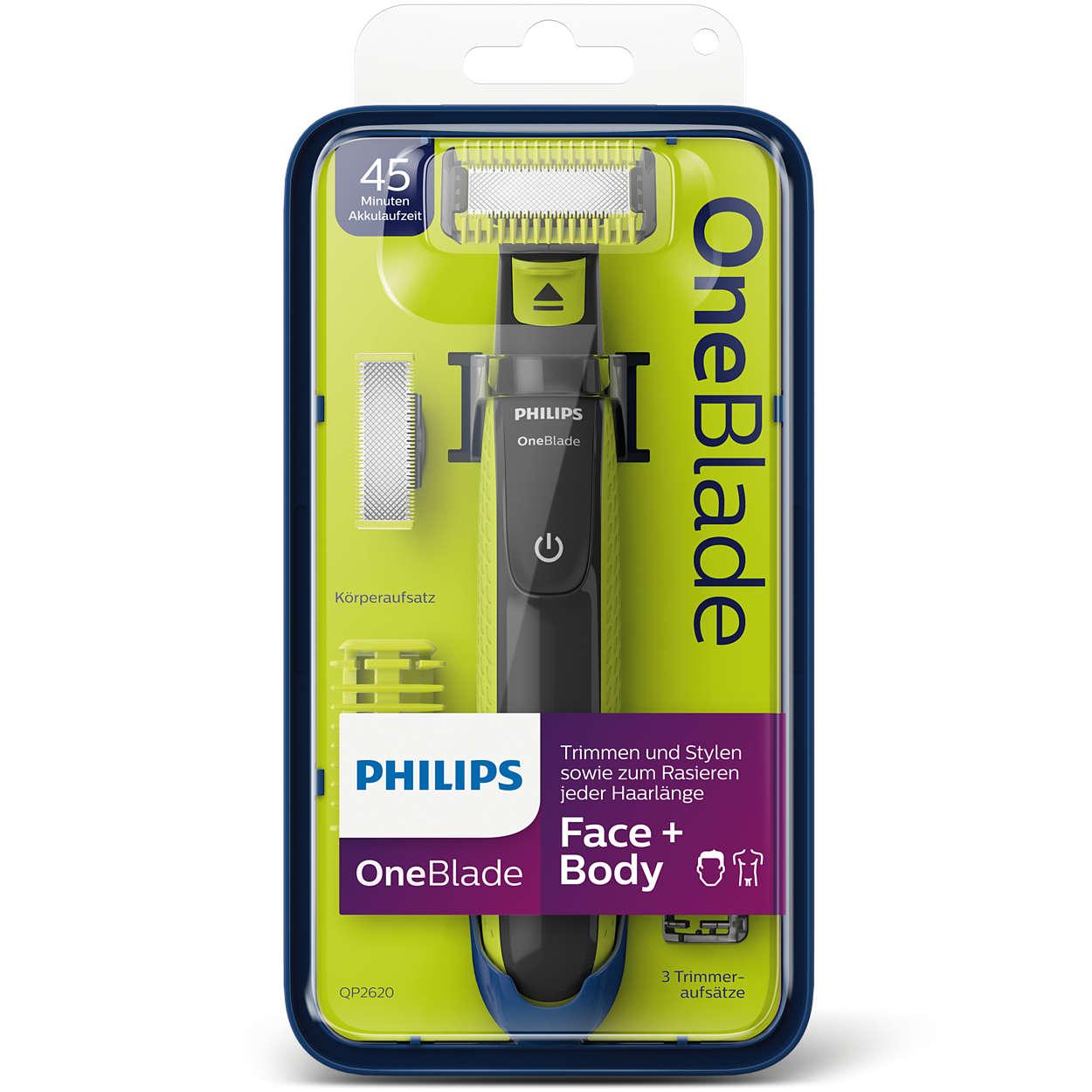 Tondeuse Philips Oneblade Visage et Corps QP2620/20