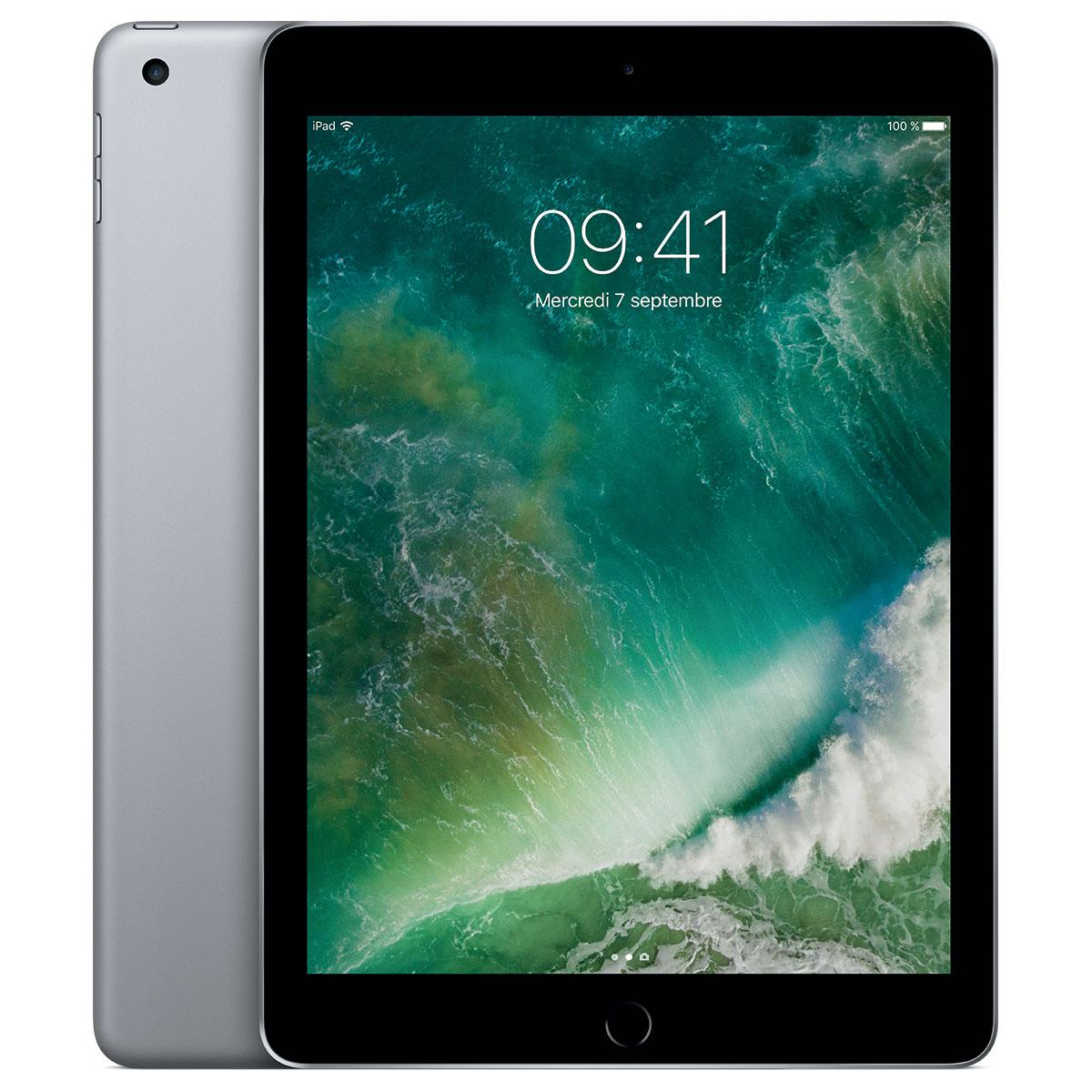 """Tablette 9.7"""" Apple iPad (2017) WiFi - Rétina (2048 x 1536), RAM 2 Go, ROM 32 Go (Gris Sidéral) + 27.80€ en SuperPoints"""
