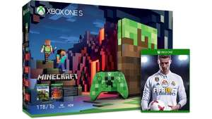 Packs Xbox One S - 500 Go à 199€ et 1 To à 229€ (tous les marchands) - Ex : Console Microsoft Xbox One S Minecraft (1 To) + FIFA 18