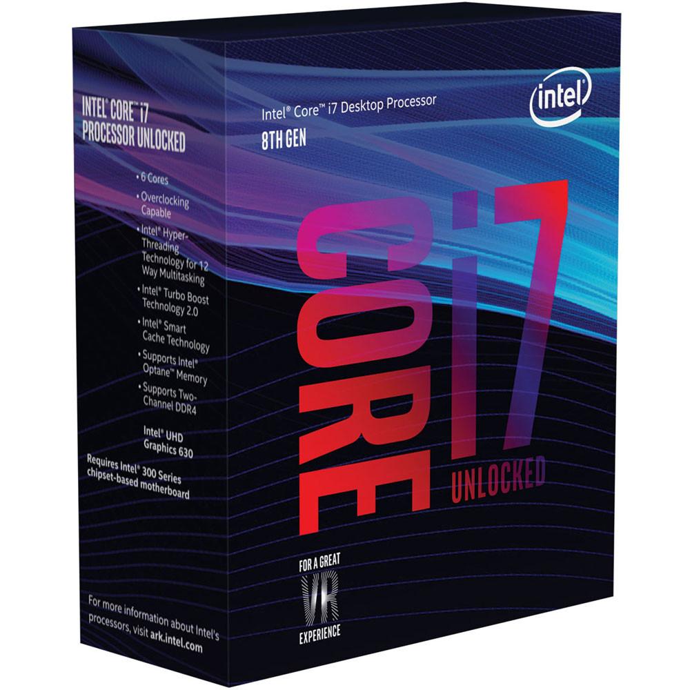 Processeur Intel Core i7-8700K 3.7GHz, 6 Coeurs , 12 Mo de cache (+ 31.9€ en SuperPoints)