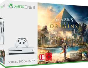 Console Microsoft Xbox One S - 500 Go + Assassin's Creed Origins (Frontaliers Suisse)