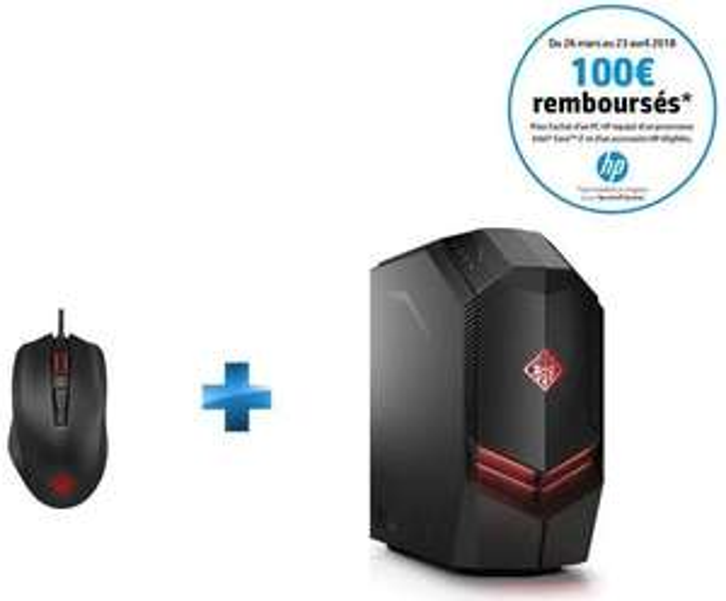 PC Gamer fixe HP Omen 880-171nf + Souris Gaming Omen 600 (ODR 100€)