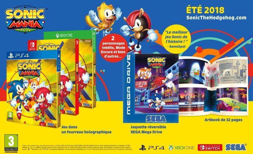 [Precommande] Sonic Mania Plus (+5€ en chèque cadeau pour les adhérents)
