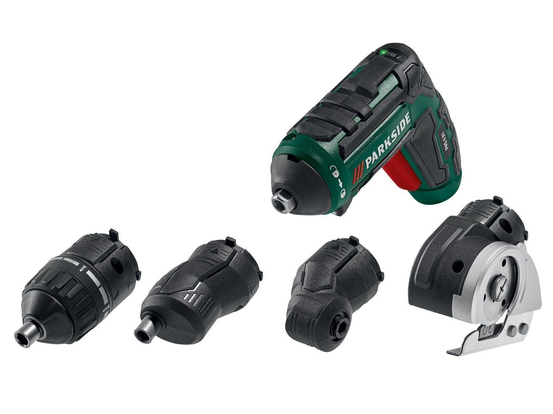 Coffret visseuse électrique sans-fil ParkSide PAS-4B2 + 1 batterie (1.5 Ah) + chargeur + 29 accessoires