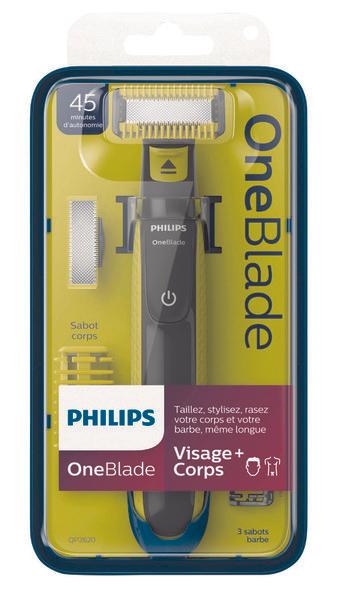 Rasoir électrique Philips OneBlade Visage + Corps (via 31.15€ sur la carte de fidélité)