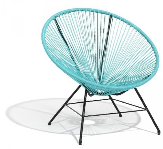 fauteuil int rieur ext rieur urban acapulco bleu blanc noir. Black Bedroom Furniture Sets. Home Design Ideas
