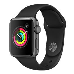 Sélection de bracelets ou montres connectés à partir de 150€ en promotion (via ODR de 50€) - Ex : Apple Watch Series 3 - 38 mm, bracelet Sport, noir