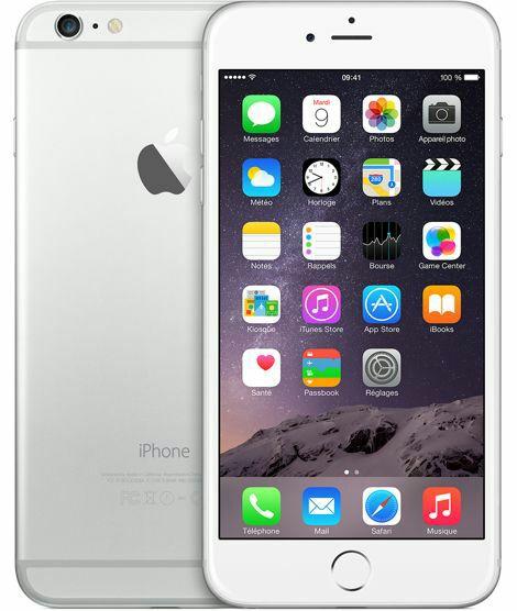 """Smartphone 5.5"""" Apple iPhone 6 Plus (A8, 1 Go de RAM, 64 Go, argent) - reconditionné (+ 34.71€ en SuperPoints)"""