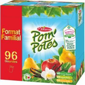 Paquet de 96 Compotes en gourde assortiment Pom'Potes (via 10.56€ sur la carte)