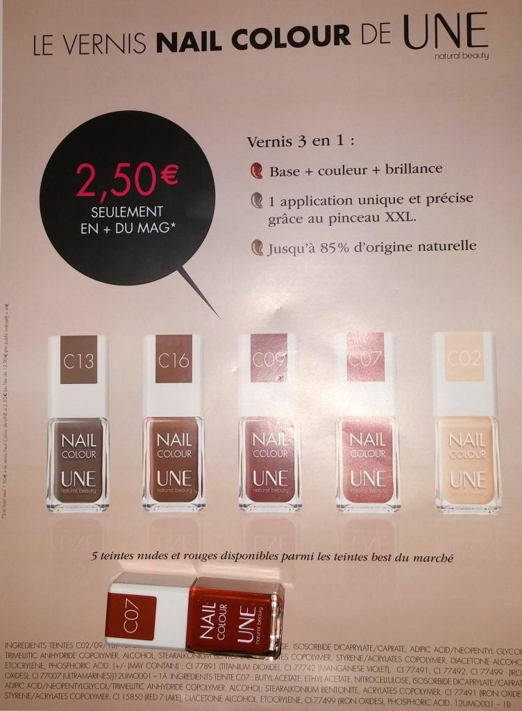 """Vernis à ongle """"Une Natural Beauty"""" + magazine Voici"""