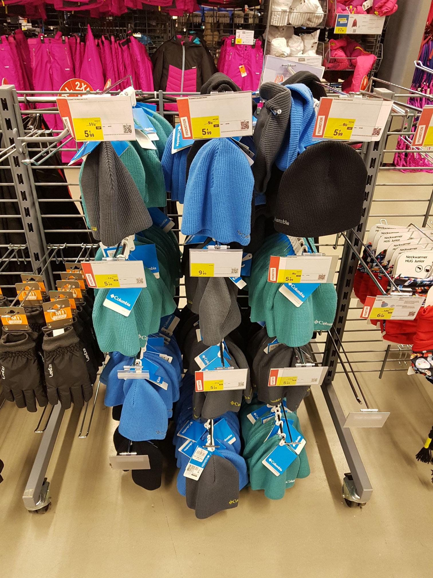 Sélection de bonnets Columbia (différents coloris) à 5.99€ - Decathlon Thiais Village (94)