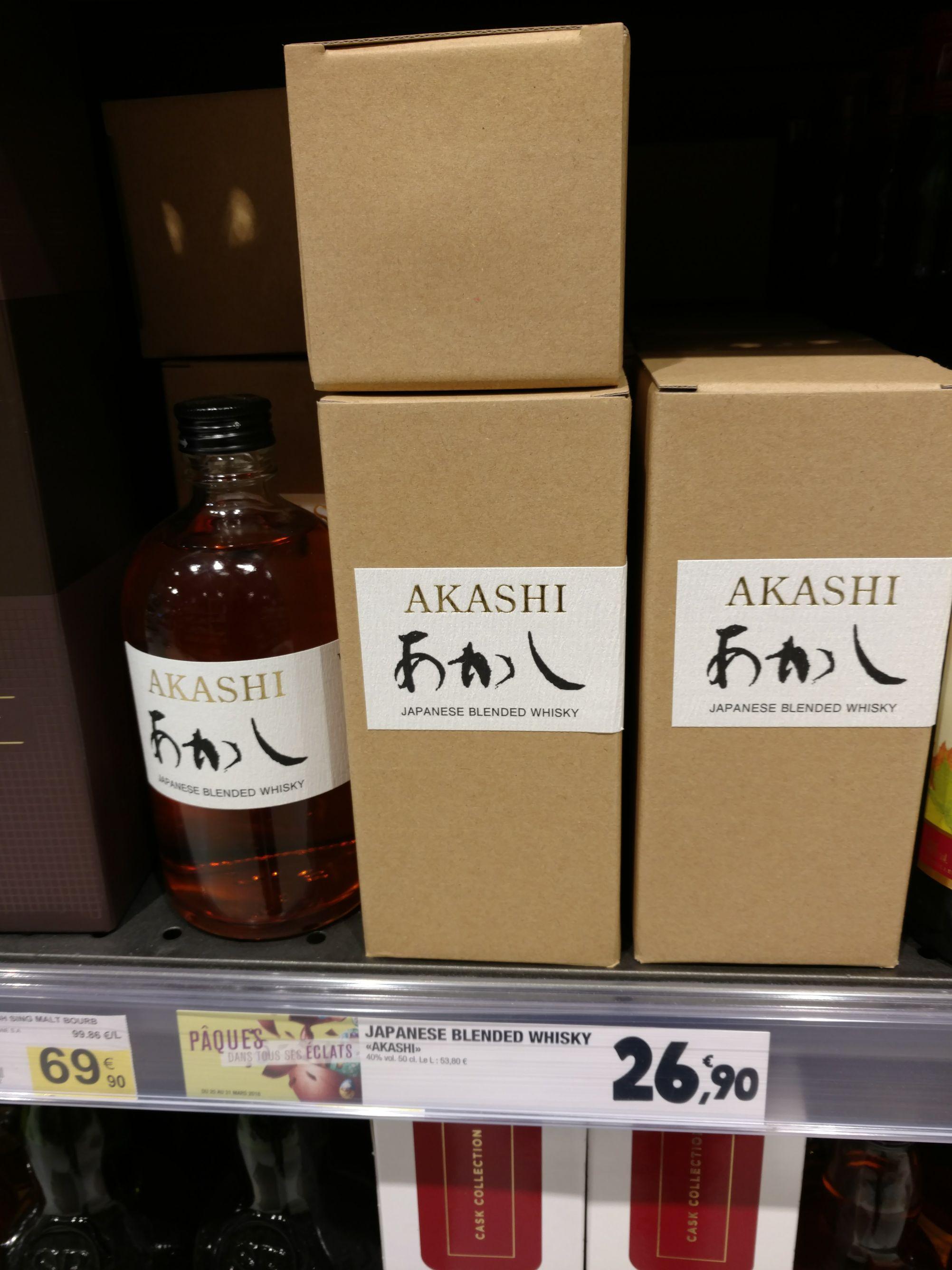 Bouteille de whisky japonais Akashi