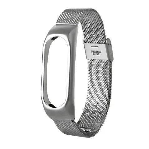 Bracelet en Acier inoxydable pour Xiaomi Mi Band 2 - Argent