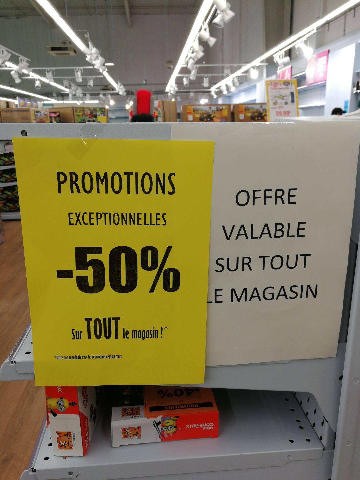 50% de réduction sur tout le magasin (hors promotions) - Saint Geneviève des bois (91)