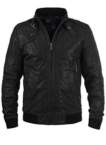 Veste en cuir véritable SOLID Homme - Plusieurs tailles (vendeur tiers)