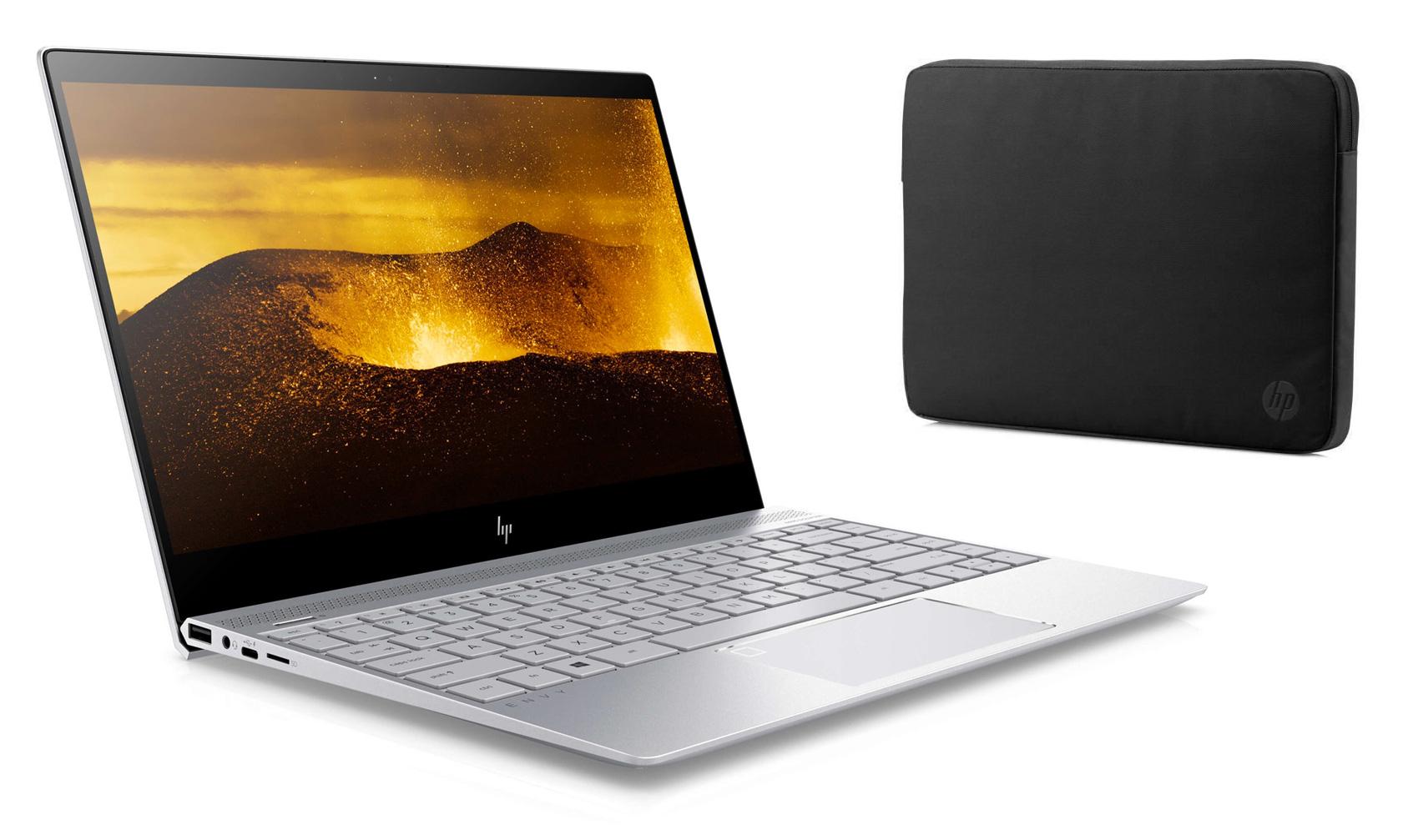 """[Cdiscount à volonté] Sélection de PC Portables HP en promotion - Ex : Ultraportable 13.3"""" HP Envy 13-ad002nf - Full HD, i7-7500U, RAM 8 Go, SSD 360 Go, Windows 10, 1.32 kg, Autonomie jusqu'à 14h + Housse (via ODR de 100€)"""