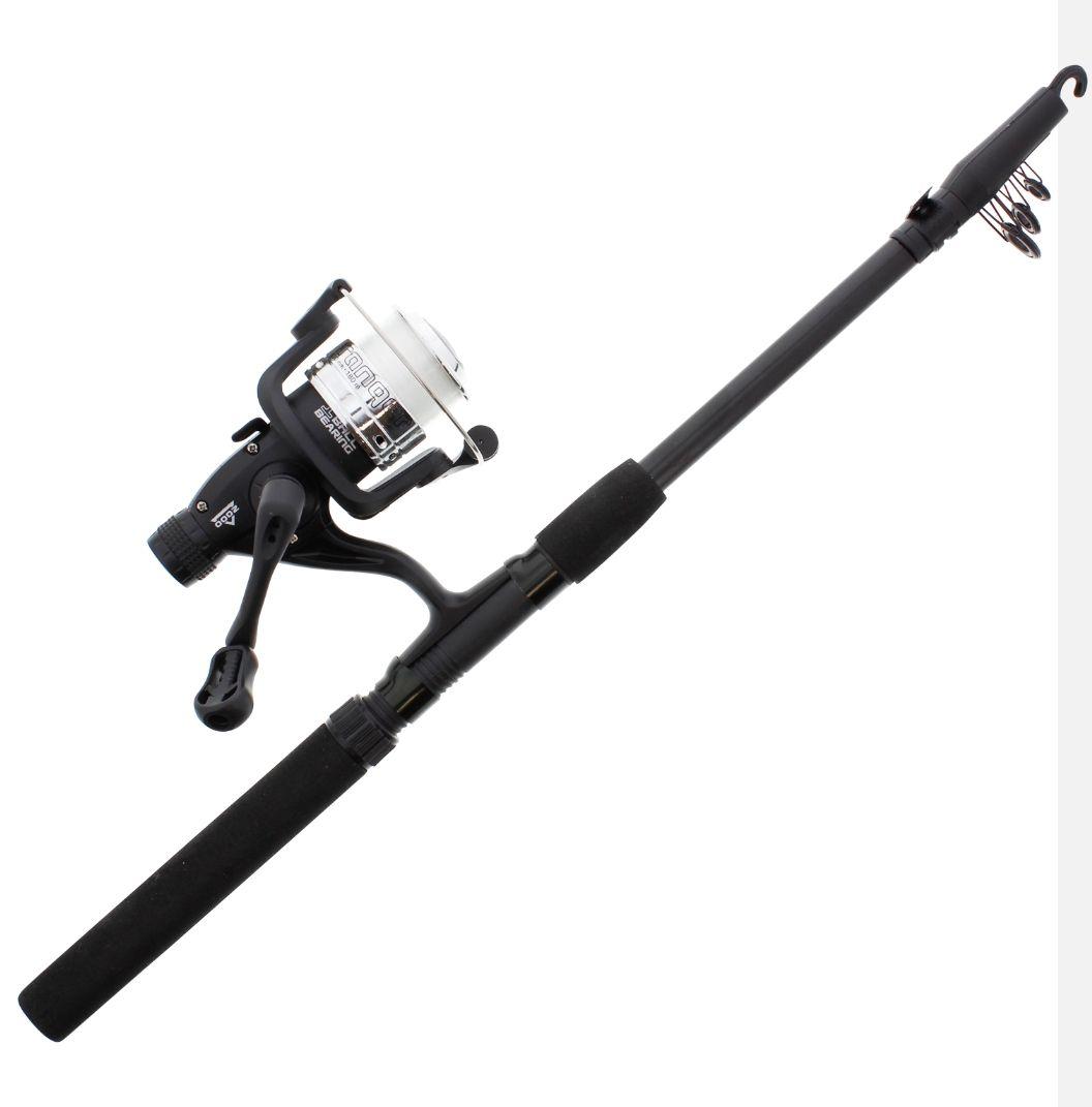 Canne à pêche à lancer télescopique avec moulinet