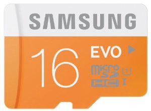 Carte Mémoire Micro SD Samsung 16 Go Evo Classe 10