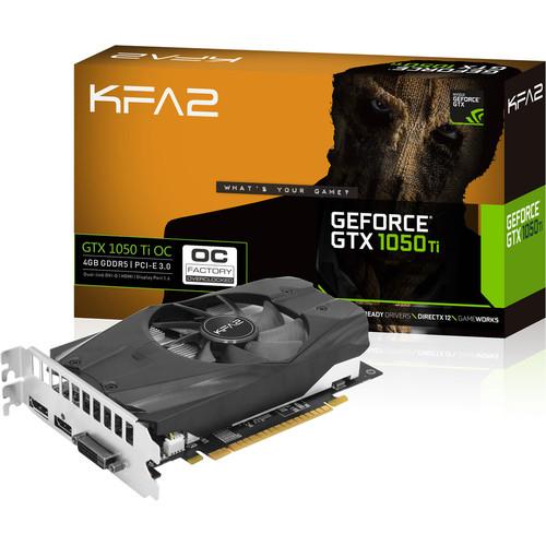 Carte graphique KFA2 GeForce GTX 1050 Ti OC - 4 Go