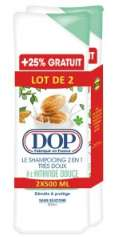 Lot de 2 Shampoings Dop 2-en-1 très doux - Variété au choix, 2x500ml