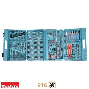 Coffret Makita Pro 216 pièces : embouts, forets & mèches