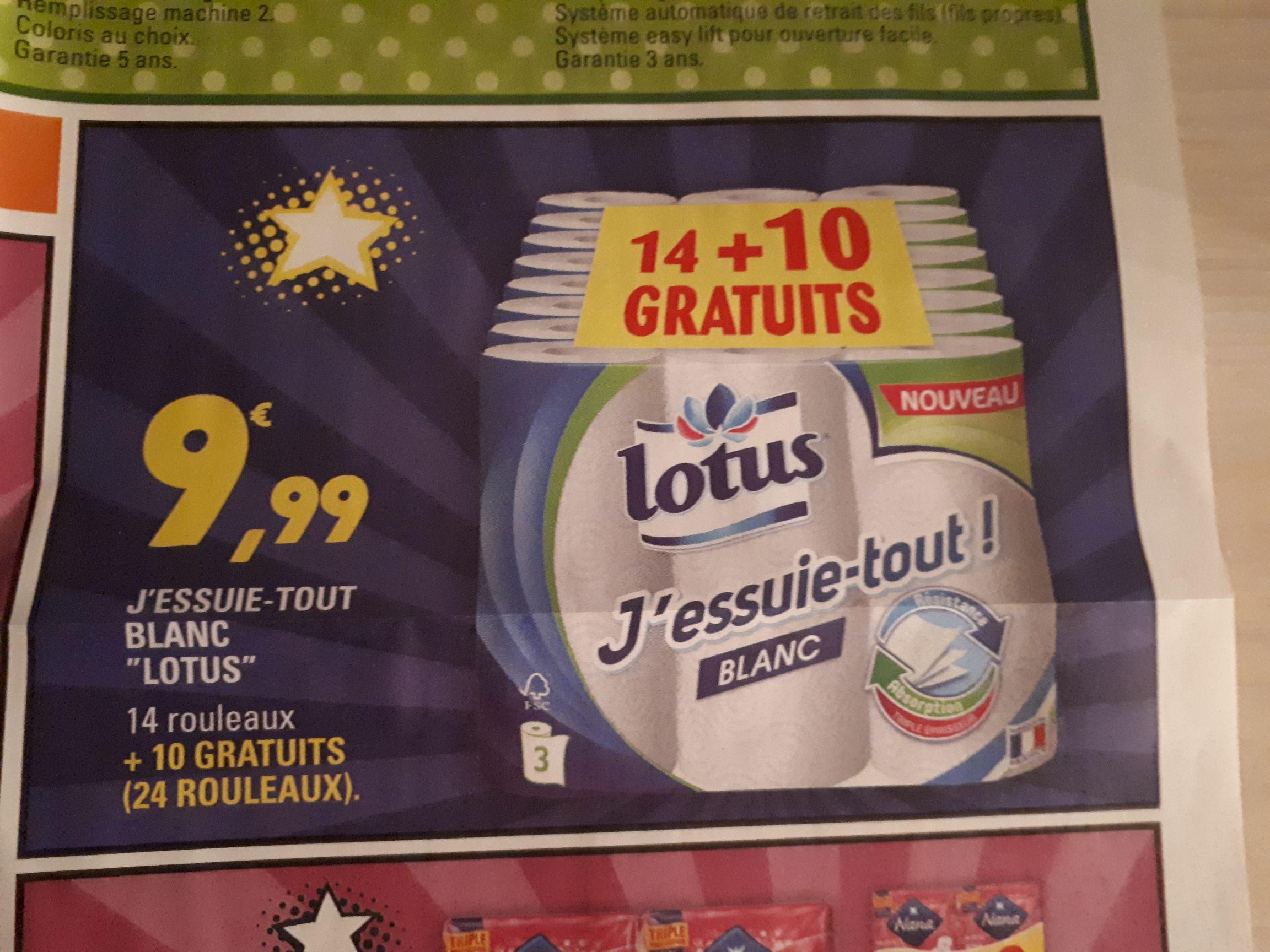 Sélection d'articles en promotion - Ex: Lot de 24 Rouleaux d'Essuie-tout Lotus - Leclerc Ile-de-France