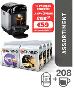 Machine à café Tassimo Vivy Black + 208 boissons