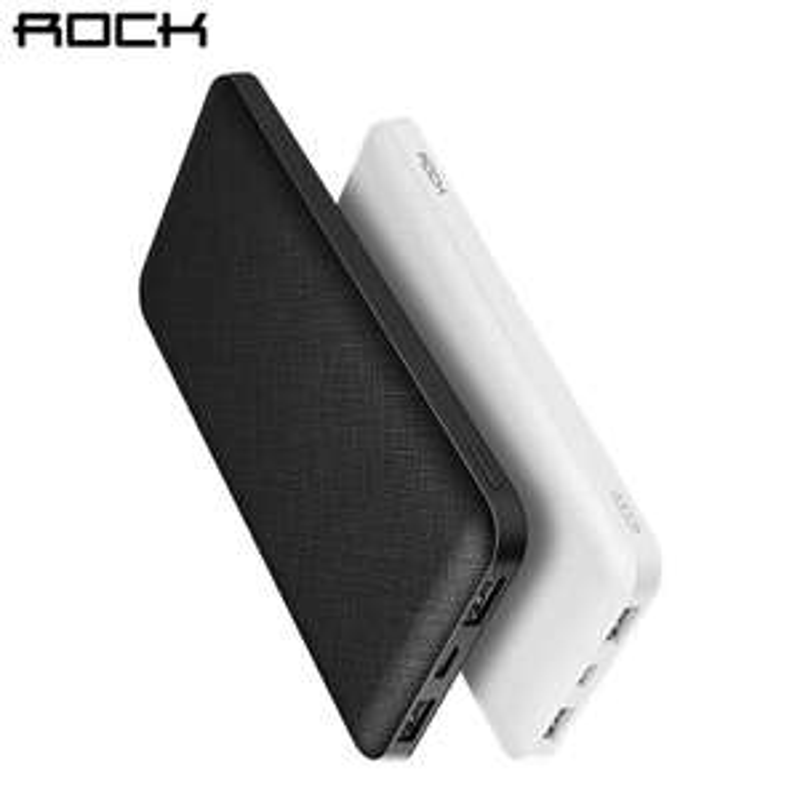 batterie externe powerbank rock slim 10000mah via l 39 application. Black Bedroom Furniture Sets. Home Design Ideas